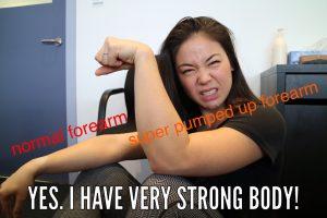 massage meme forearms