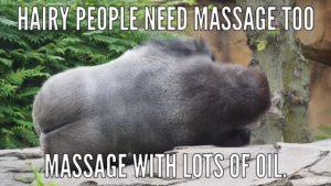 massage monkey meme